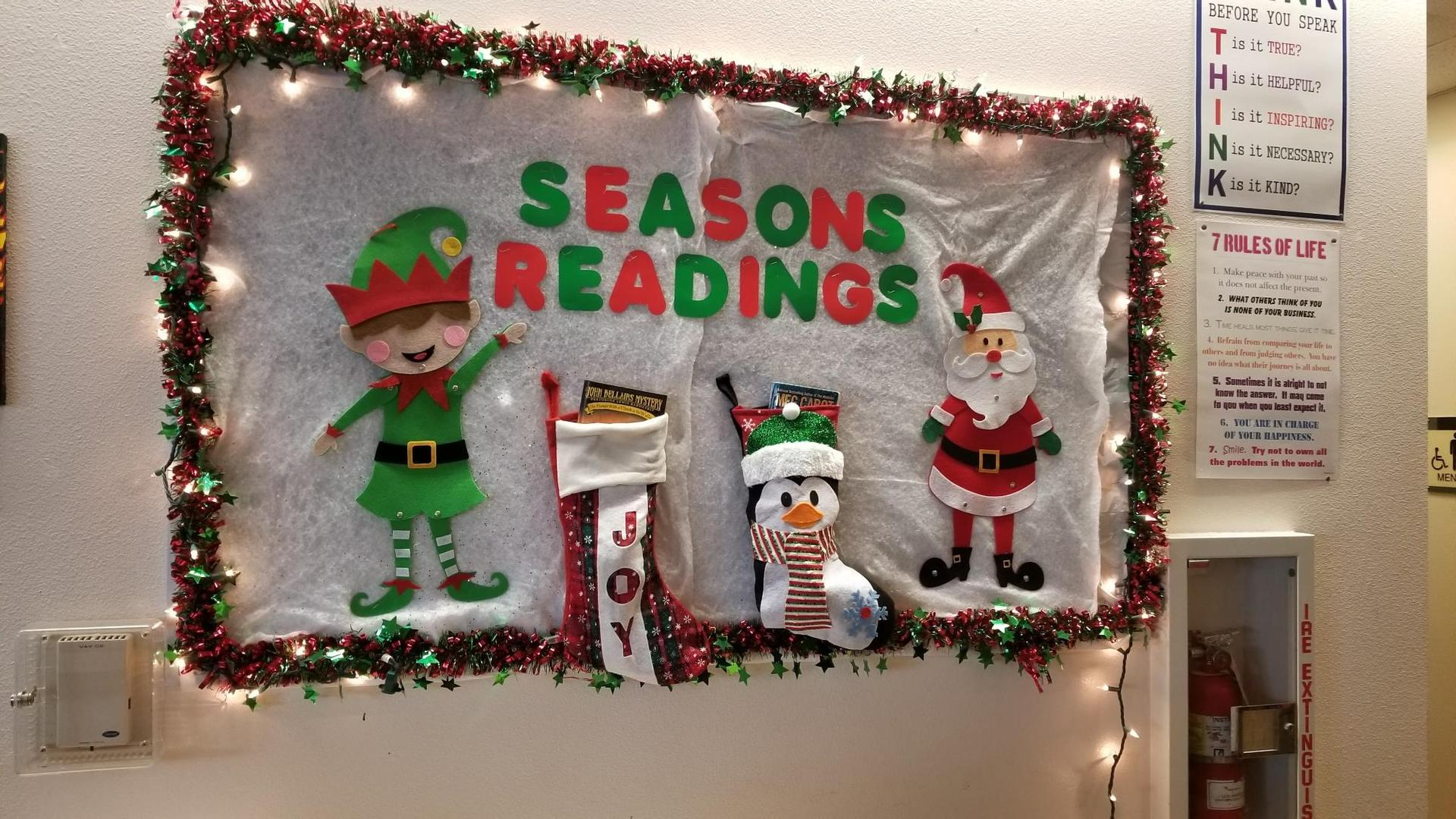 Christmas Time in the Library