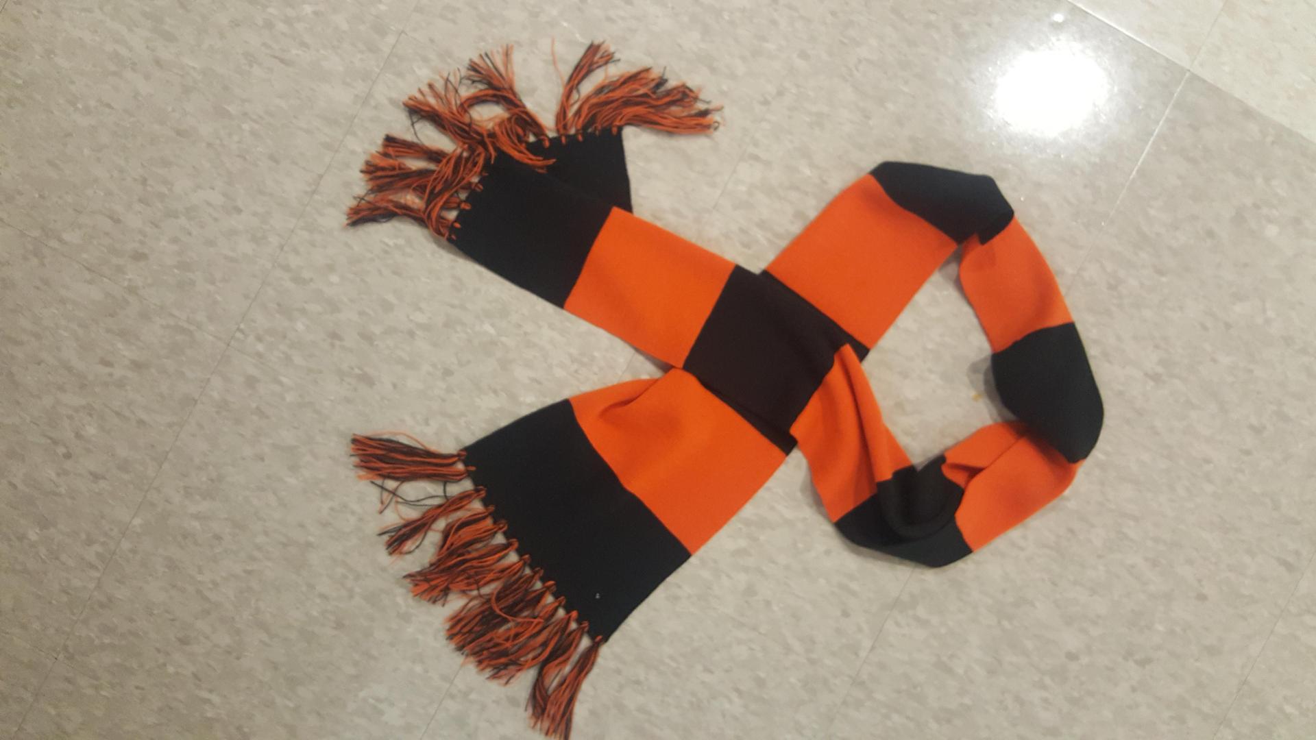 Black and orange scarf 15 $