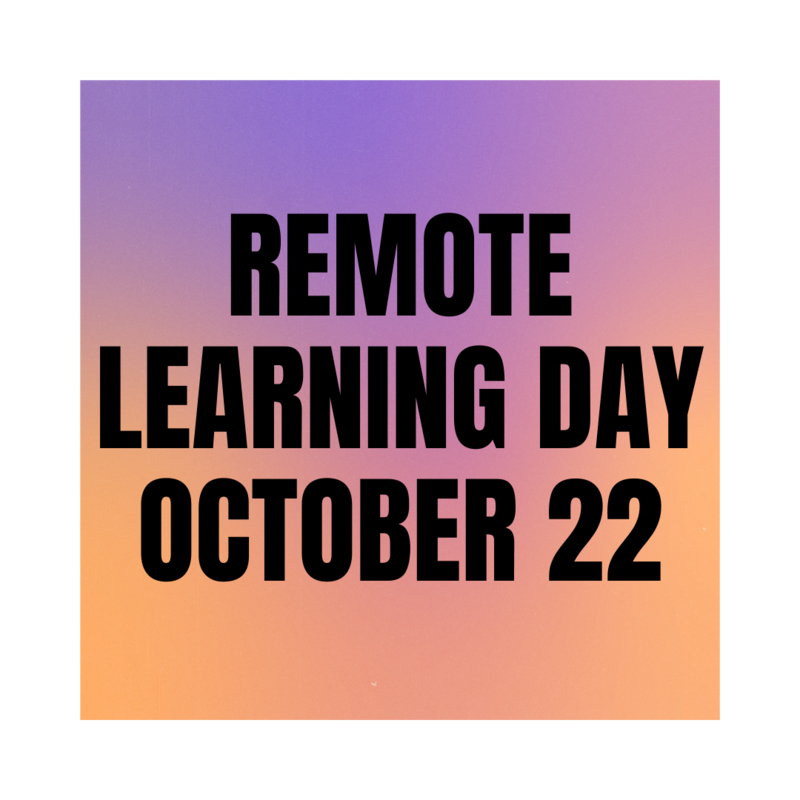 Remote Learning Day October 22! Featured Photo