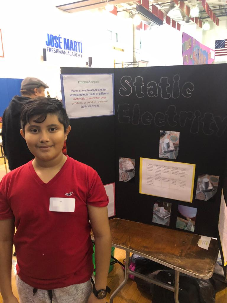 Edison student jonathan research on static electricity