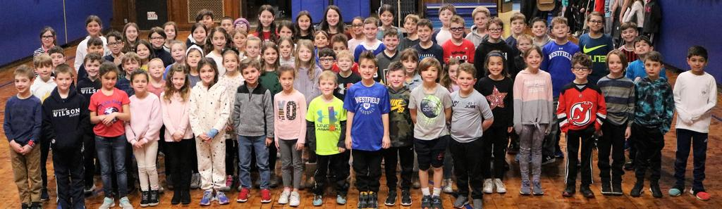 "Photo of more than 70 student ""Ambassadors of Kindness' at Wilson School."