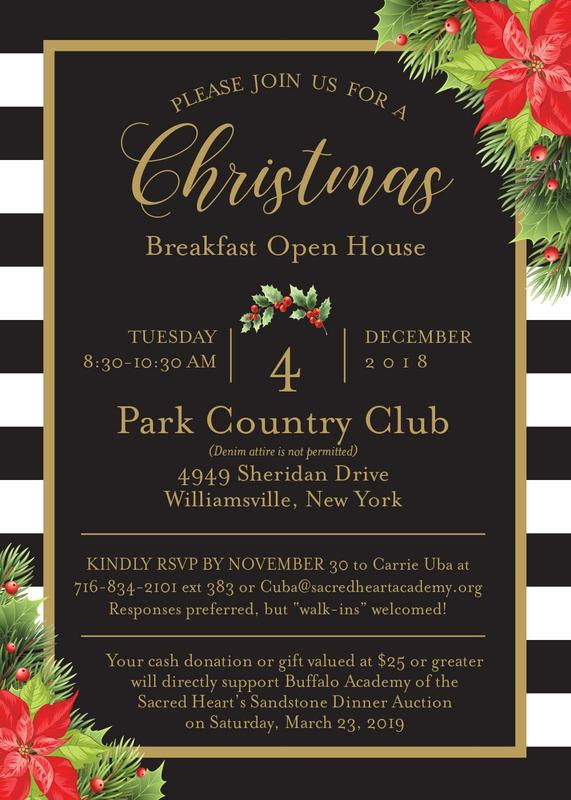 invitation to Christmas Breakfast on December 4