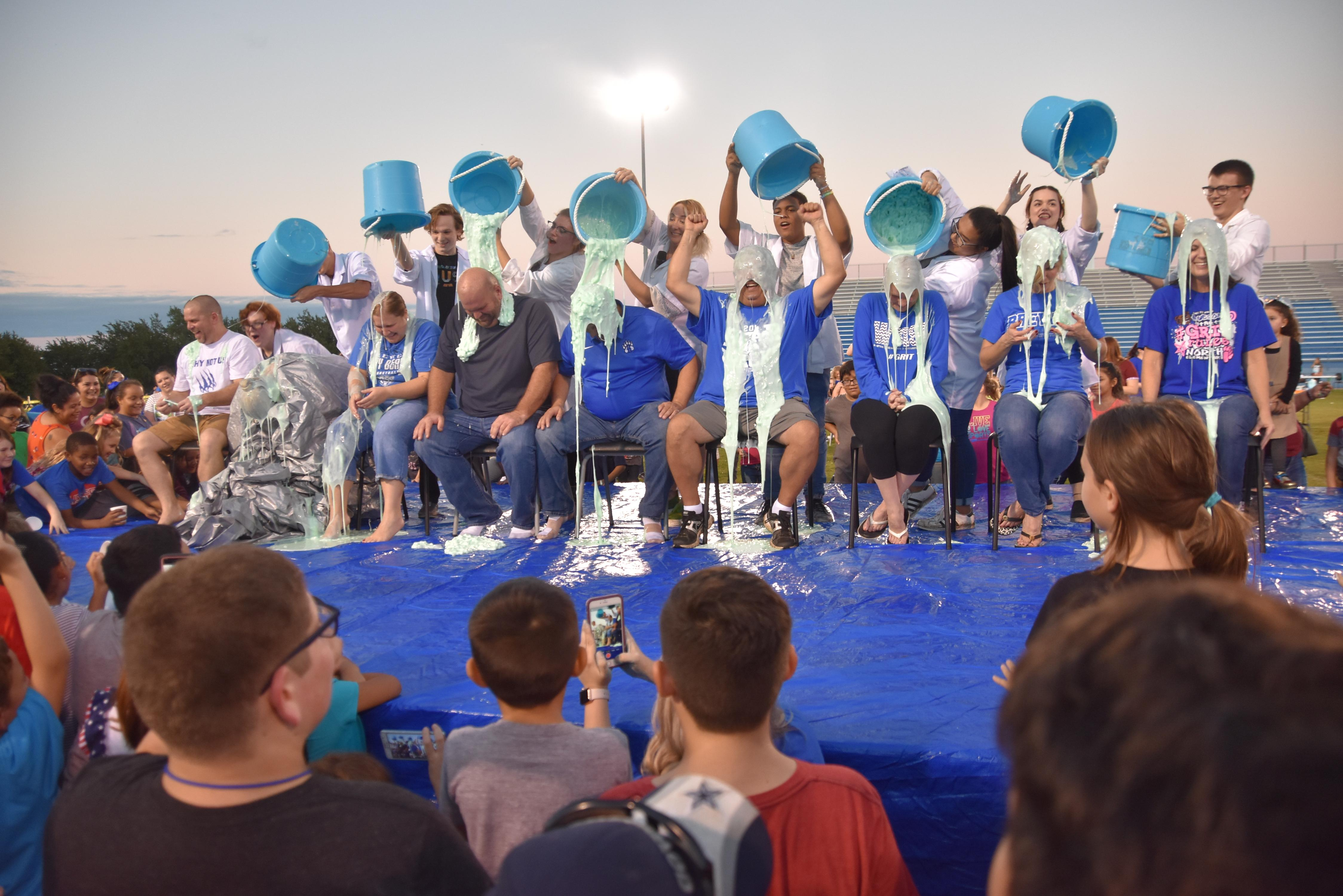 WSISD slimed every principal and the superintendent at the 9th Annual Mad Scientist Night.