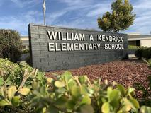 front sign of Kendrick Elementary that states