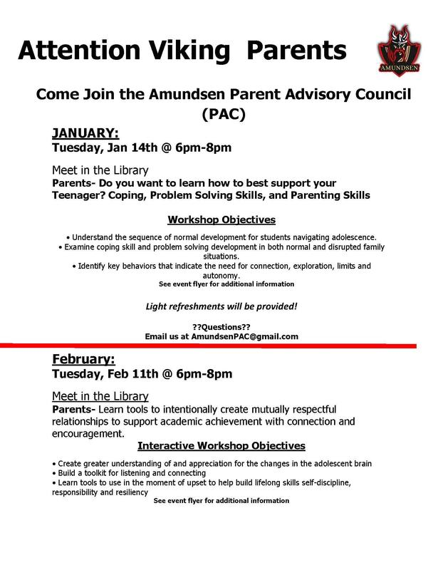 Parent Advisory Council Events for January and February Featured Photo
