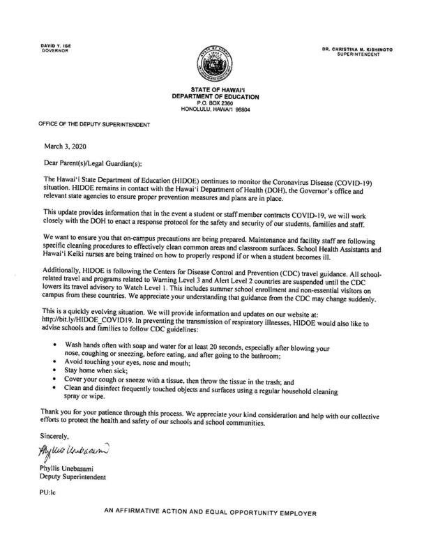 HIDOE Coronavirus Letter March 3, 2020.jpg