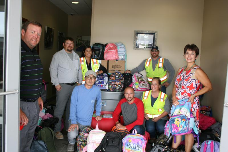 McDermott donates school supplies that will be distributed to the schools Thumbnail Image