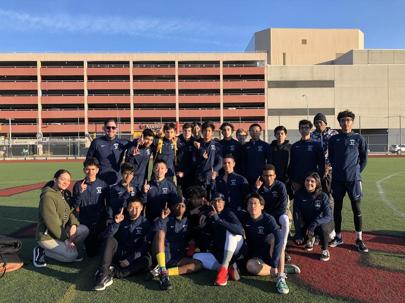 Maspeth HS Boys Outdoor Track Gain Momentum at Newtown HS Featured Photo