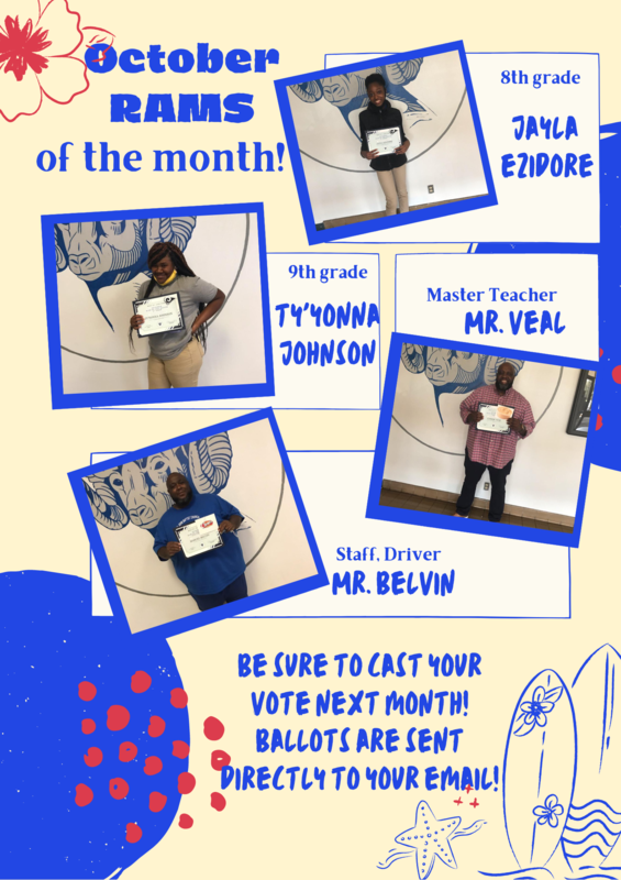 October Rams of the Month