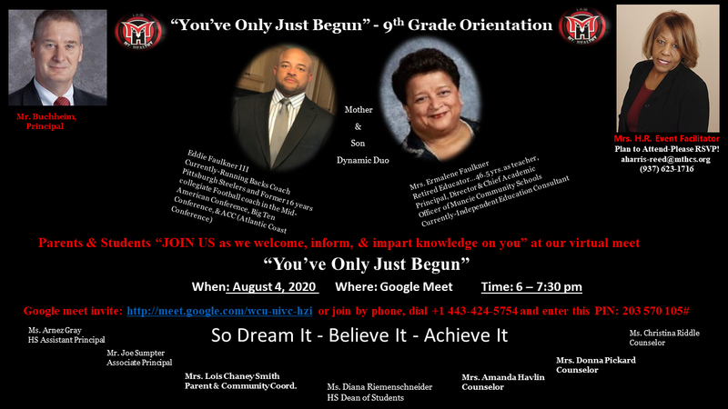 9th grade orientation flyer
