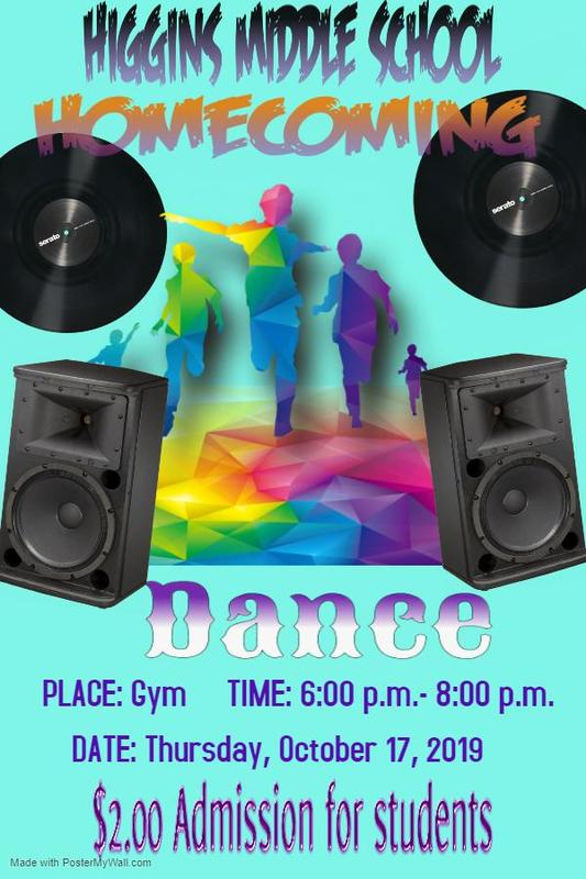 Higgins Middle School Homecoming Dance Featured Photo