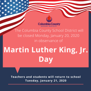 MLK JR. Day holiday closure info graphic