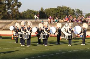 drumline during performance