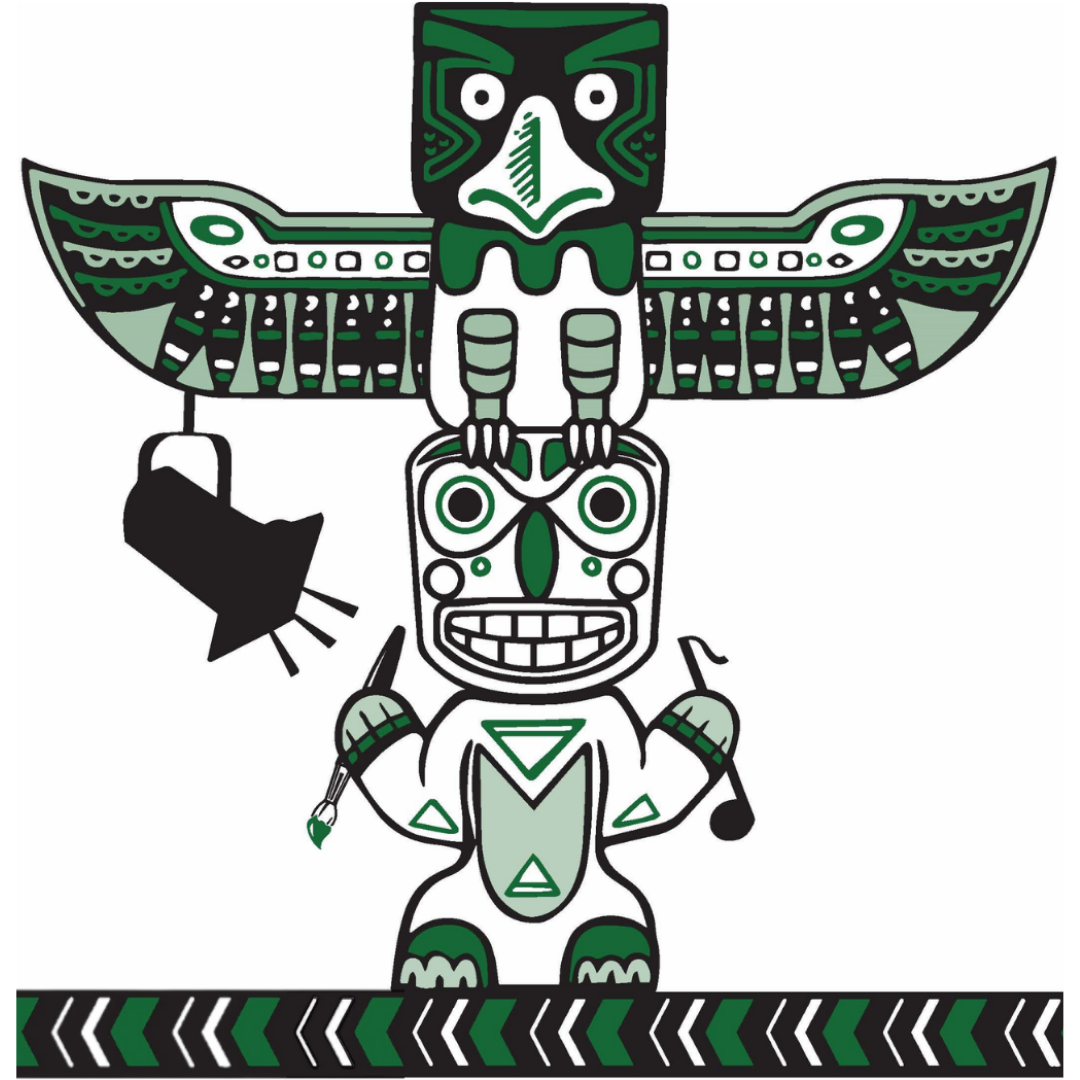 simpson logo with totem pole