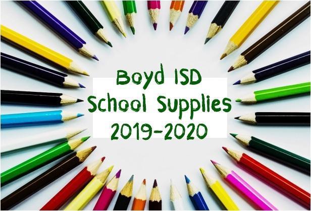 School Supplies 2019-20 Thumbnail Image