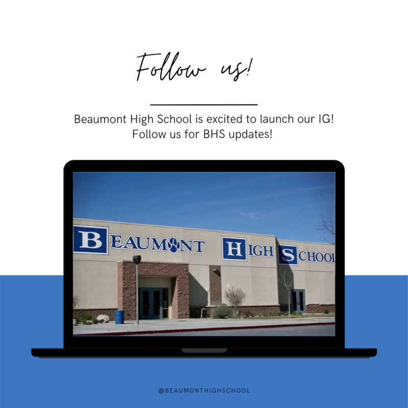 Beaumont High School Instagram Launch! Featured Photo