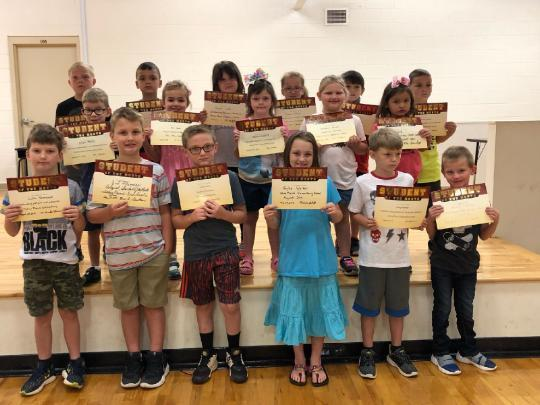 August 2019 Student of the Month picture