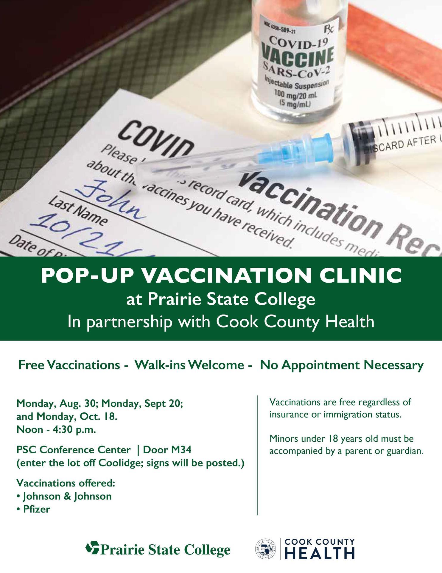 Prairie State College vaccine clinic