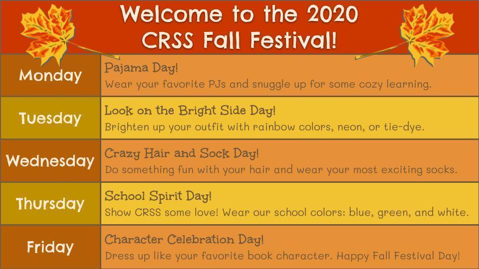 Fall Festival Week Details