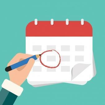 pencil circling calendar date