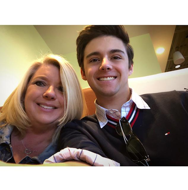 Laurie and her son.