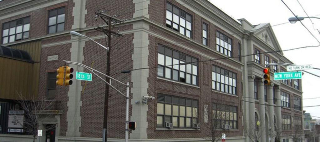 emerson middle school main building facade