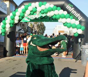 Gator mascot at the Gator Run!