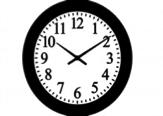 A clock showing ten minutes past ten