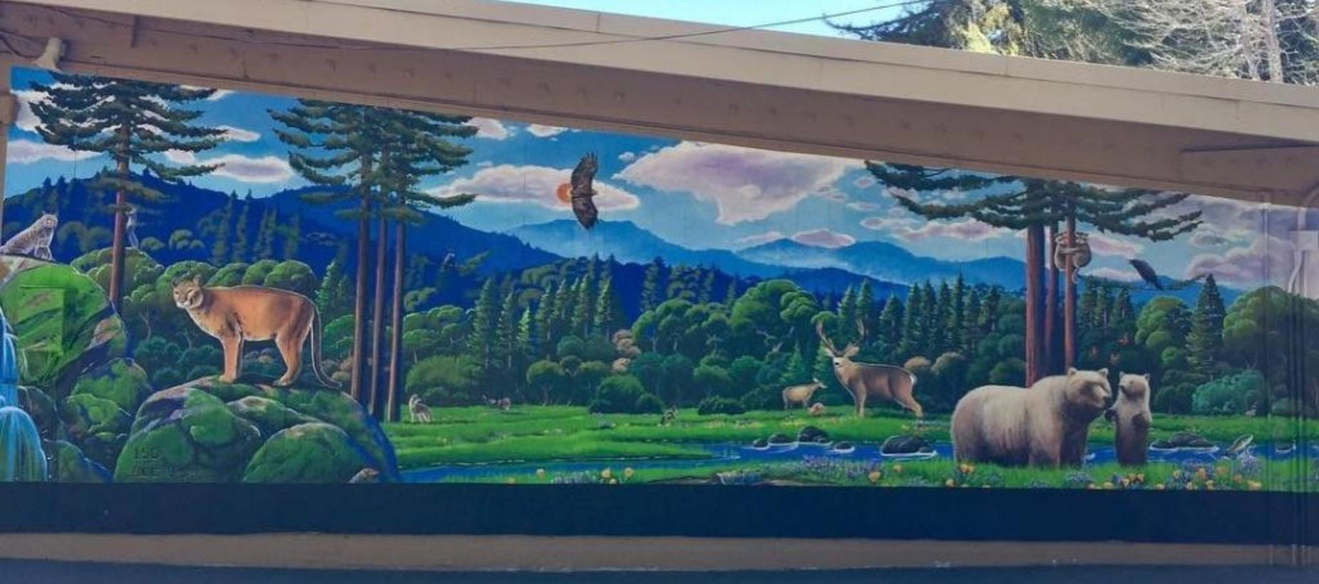 Mural at BCE's lower playground