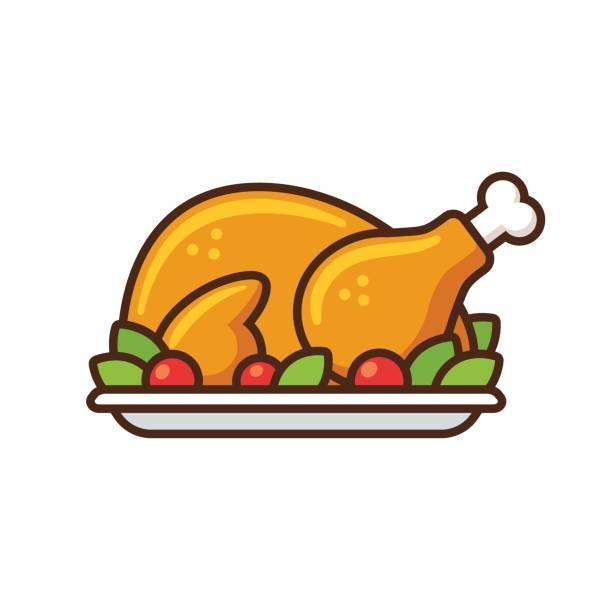clipart of cooked turkey