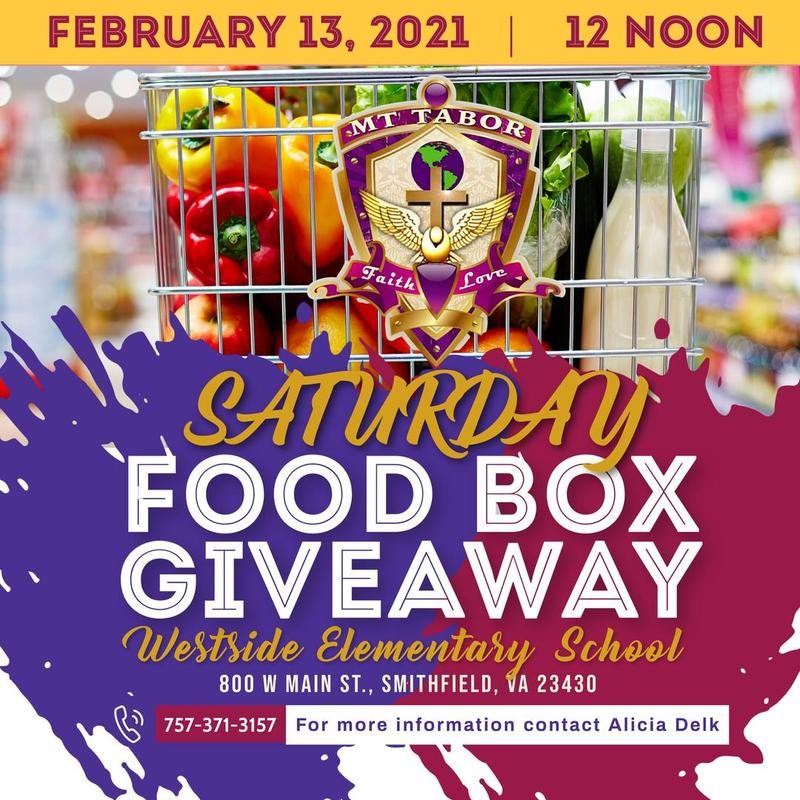 Food box giveaway at Westside Elementary School at noon Feb. 13