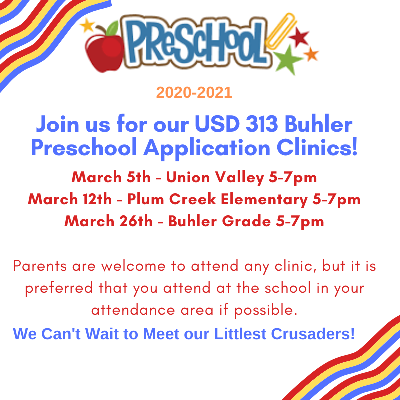 Buhler Pre-K Clinics Coming in March Thumbnail Image