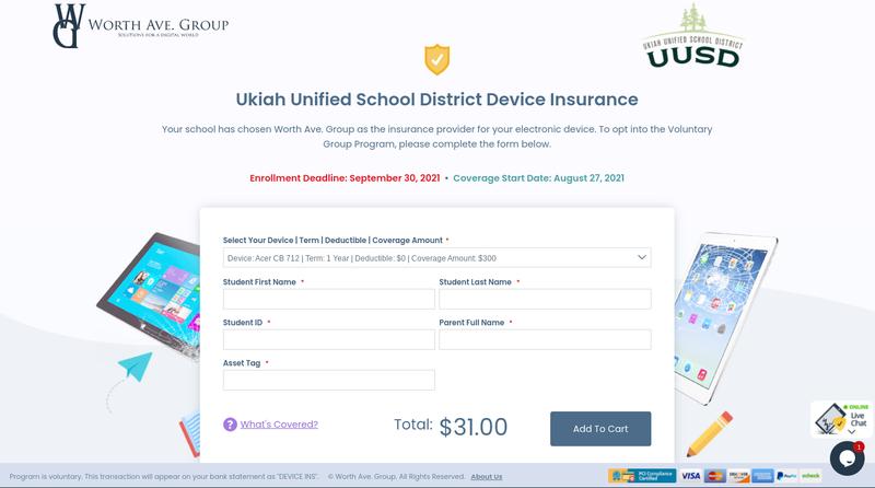 UUSD Insurance Page