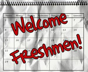 Welcome Freshman Graphic