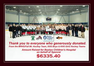 Hockey Team with Donors