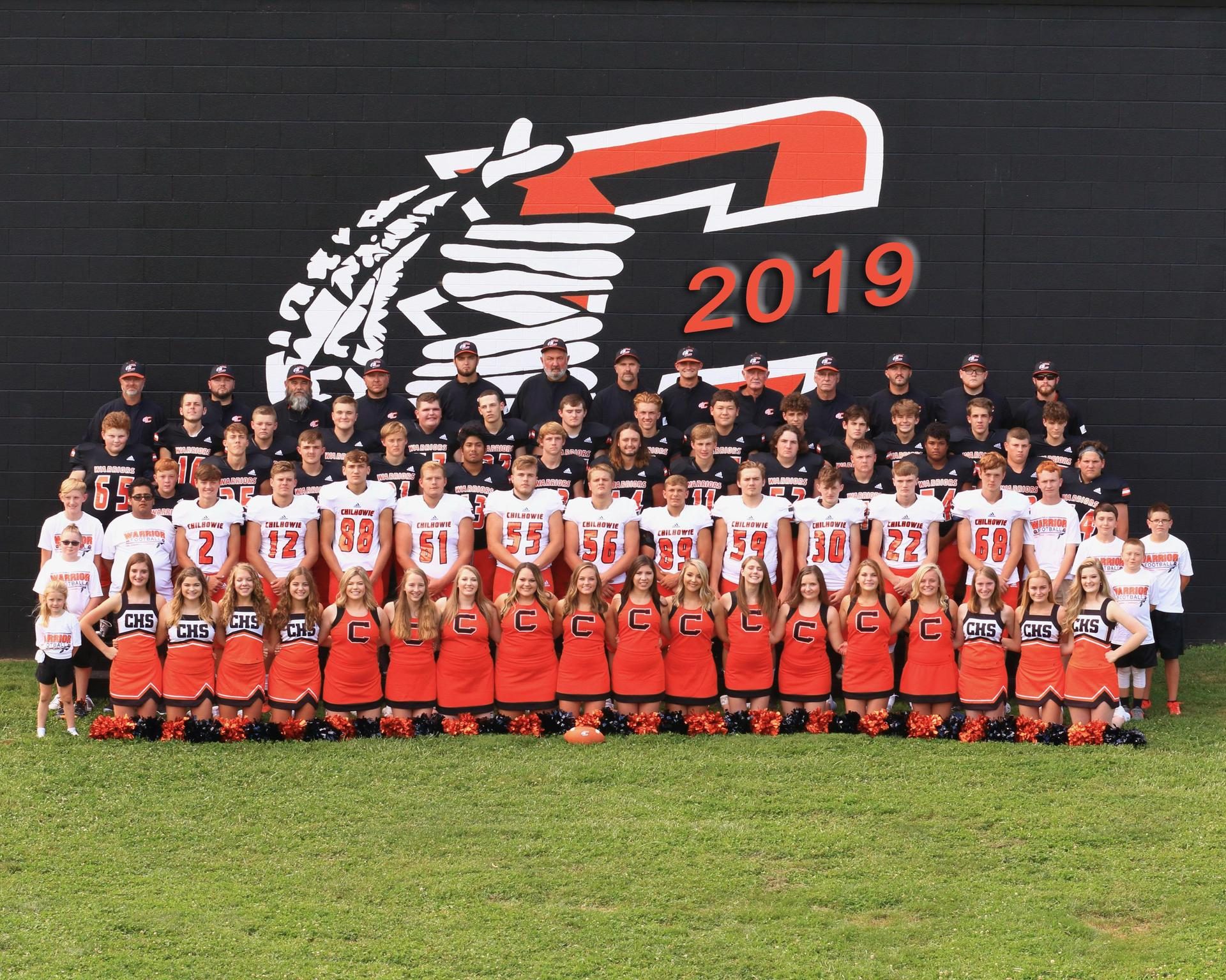 2019-2020 Chilhowie High School Football Team, Cheerleaders and Coaches