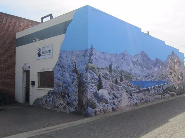 City of Exeter- The Sun Gazette Newspaper Office and Mural