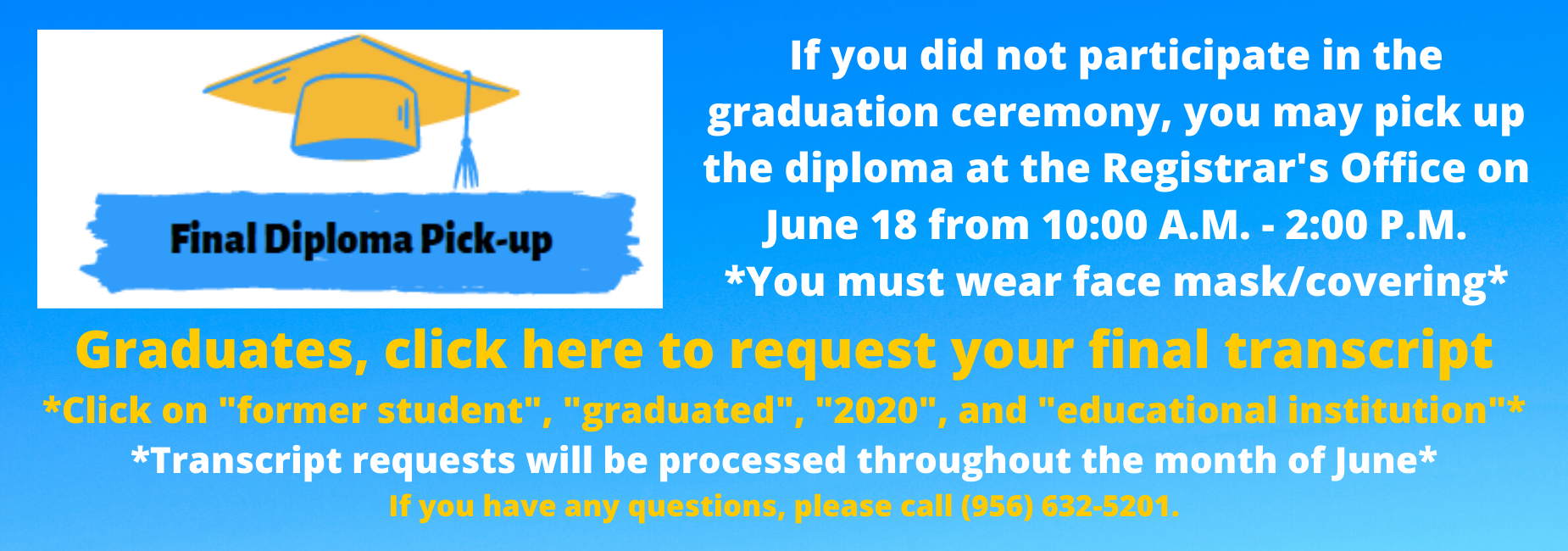 diploma and transcript info