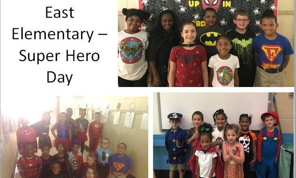 East elementary participated in Super Hero Day as part of Homecoming Week activities.