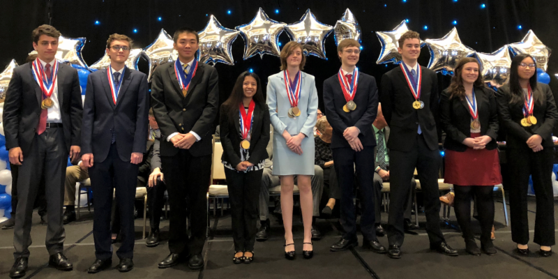 AcDec team wins 2nd at state competition.