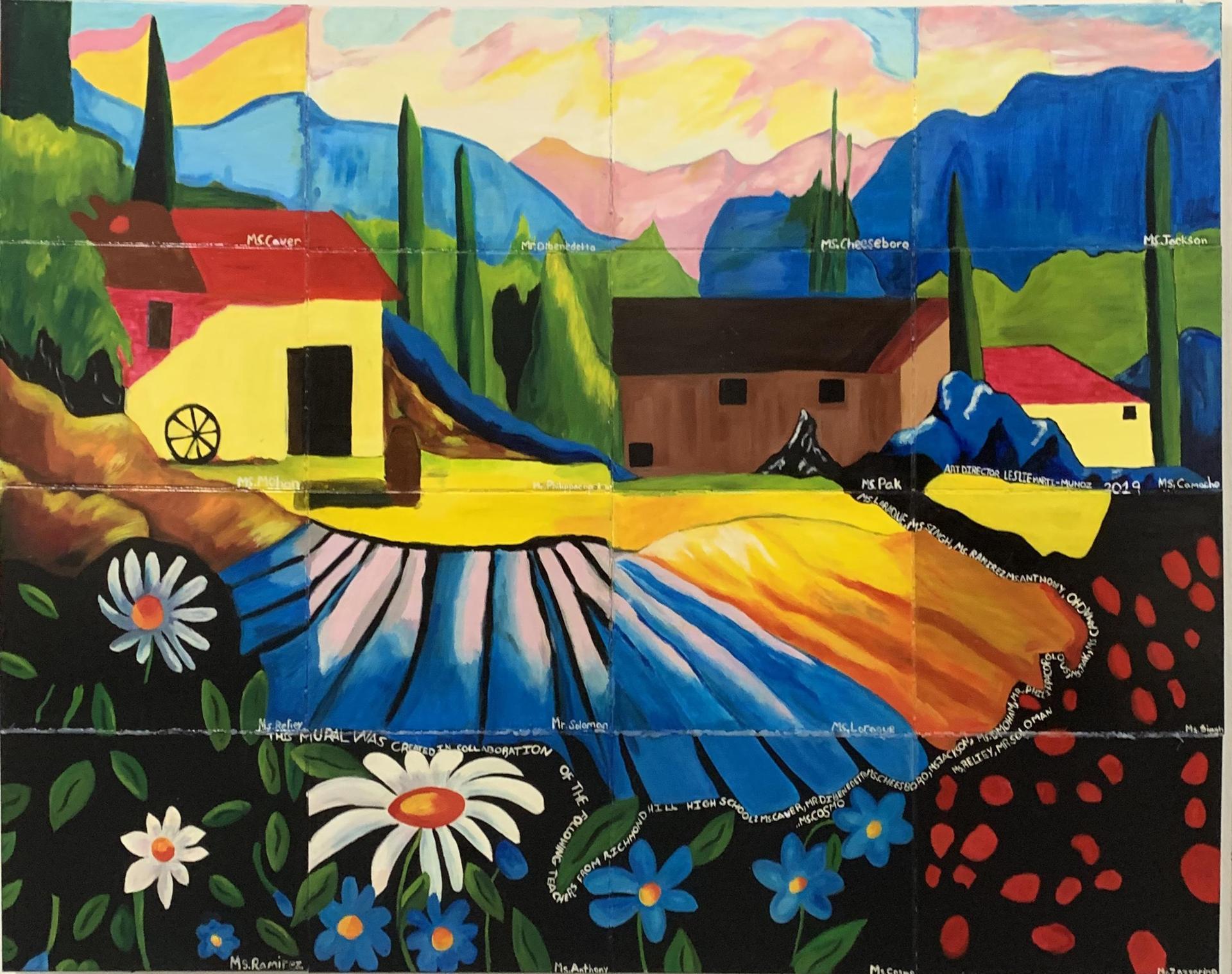 Teacher Collaborative Painting