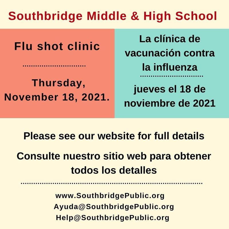Graphic with flu shot clinic dates.  All information is also in the body of the post.