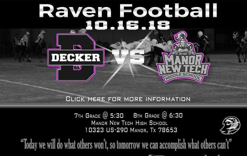 Football:  Decker vs Manor New Tech Thumbnail Image