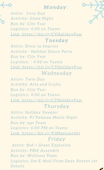 Leckie Holiday Spirit Week 12/14 - 12/18 Featured Photo