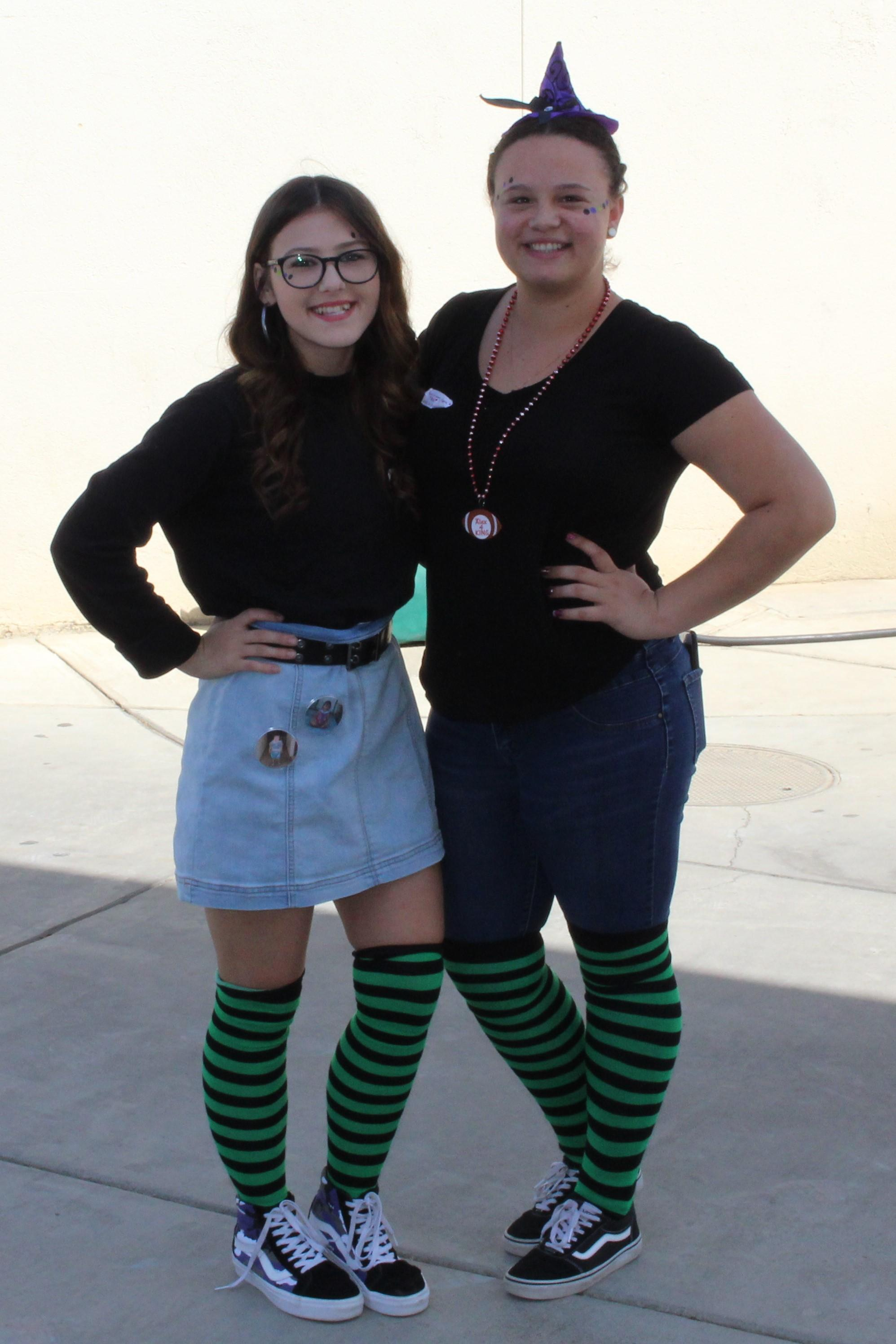 Students dressed for wicked Wednesday
