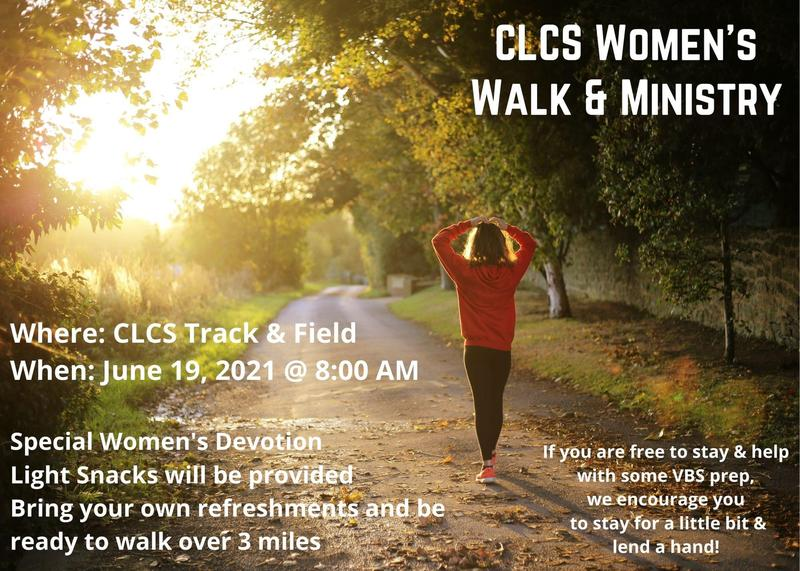 Women's Walk & Ministry - June 19 @ 8:00 AM on the CLCS Track Featured Photo