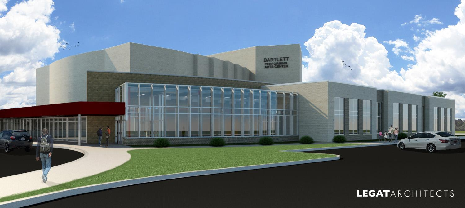 Rendering of the new performing arts center.
