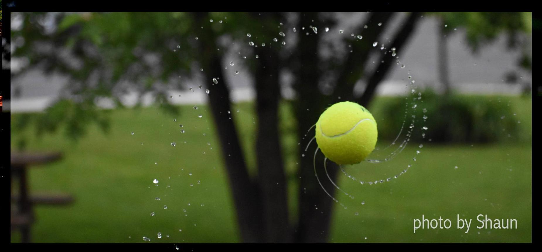 wet spinning tennis ball