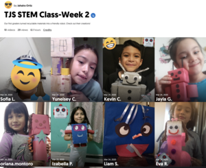 collage of student robots from home