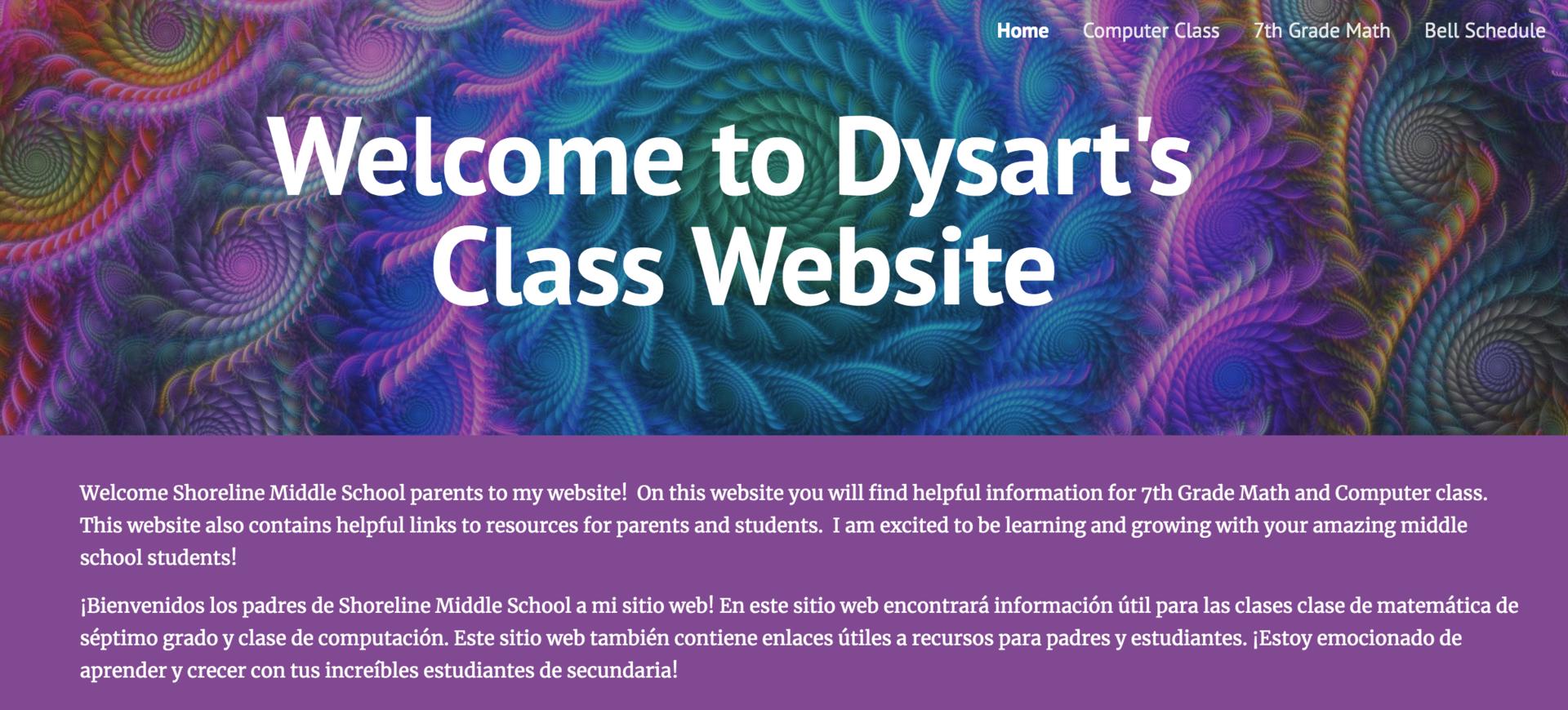 Image of Dysart Website